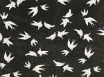 swallows on black